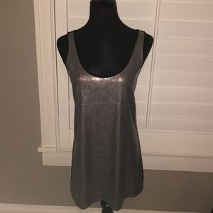 🔴 I Heart Ronson Silver Sequin Tank Top - size S